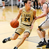 Don Knight | The Herald Bulletin<br /> Lapel's Reid Ratzlaff drives to the basket as the Bulldogs traveled to Daleville on Saturday.