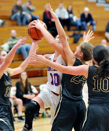 John P. Cleary |  The Herald Bulletin<br /> Daleville vs Elwood in girls basketball.