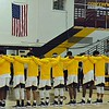 "Paul DiCicco - The News-Herald<br /> The Brush Arcs stand together for the ""Star Spangled Banner"" as they prepare to take on the Willoughby South Rebels on Dec. 28."
