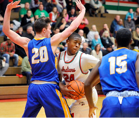 John P. Cleary |  The Herald Bulletin<br /> Carmel vs Anderson HS in boys basketball.