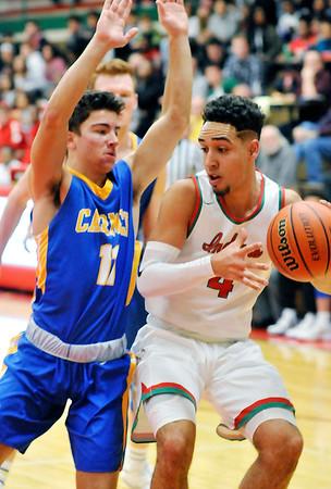 John P. Cleary |  The Herald Bulletin<br /> Carmel vs Anderson HS in boys basketball.