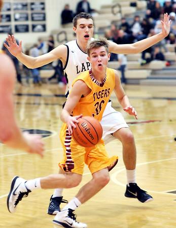 John P. Cleary | The Herald Bulletin<br /> Alexandria vs Lapel in boys basketball.