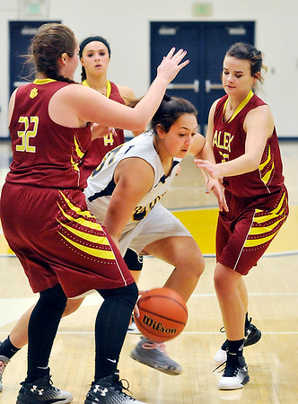 John P. Cleary    The Herald Bulletin<br /> Alexandria vs Shenandoah in girls basketball.