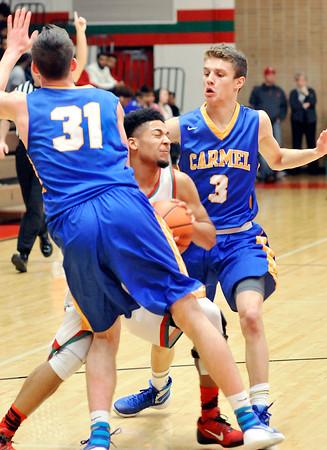 John P. Cleary   The Herald Bulletin<br /> Carmel vs Anderson in boys basketball.