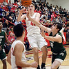 John P. Cleary | The Herald Bulletin<br /> First round of Madison County Tourney with Pendleton Heights vs Frankton in boys basketball.