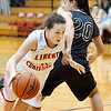 John P. Cleary |  The Herald Bulletin<br /> Daleville vs Liberty Christian in girls basketball.