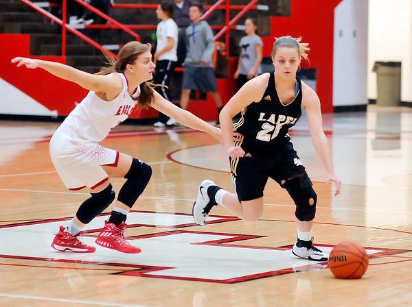 John P. Cleary |  The Herald Bulletin<br /> Lapel vs Frankton in girls basketball.