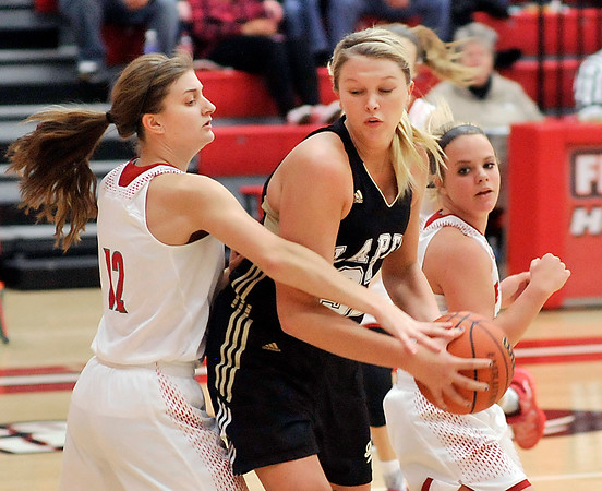 John P. Cleary |  The Herald Bulletin<br /> Lapel vs Frankton in girls basketball.
