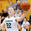 Don Knight |  The Herald Bulletin<br /> Pendleton Heights' Kailyn Graham saves the ball from going out of bounds as the Arabians hosted Noblesville on Thursday.
