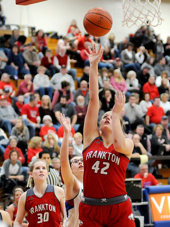 Don Knight   The Herald Bulletin<br /> Elwood hosted Frankton on Friday.