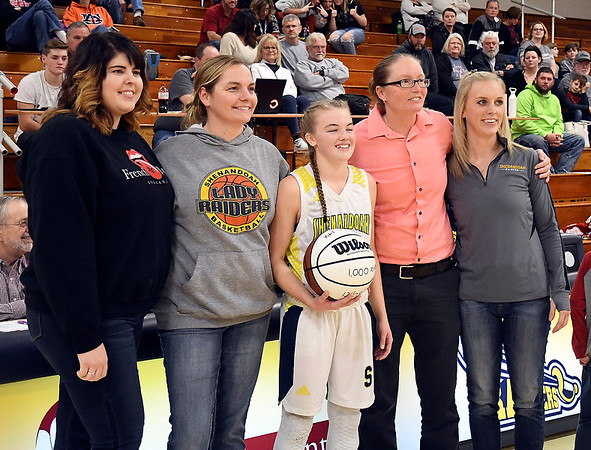 Knightstown vs Shenandoah in girls basketball.