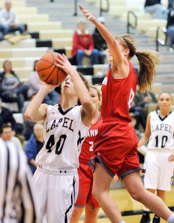 John P. Cleary | The Herald Bulletin<br /> Frankton vs Lapel in girls basketball.