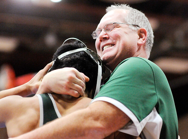 Don Knight   The Herald Bulletin<br /> Wrestling sectional at Elwood on Saturday.