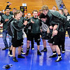 Don Knight | The Herald Bulletin<br /> Pendleton Heights celebrates after winning the wrestling sectional at Elwood Saturday.