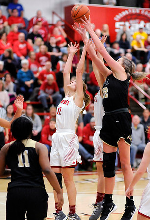 Don Knight |  The Herald Bulletin<br /> Frankton hosted Lapel for the first round of the Girls' Basketball Sectional on Tuesday.