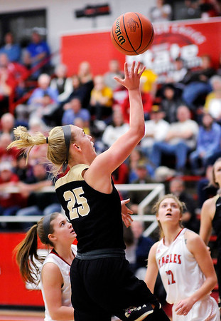 Don Knight    The Herald Bulletin<br /> Frankton hosted Lapel for the first round of the Girls' Basketball Sectional on Tuesday.