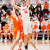 Don Knight | The Herald Bulletin<br /> Frankton's Rylan Detling shoots as he is guarded by Hamilton Heights's AJ Field on Thursday.