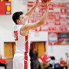 Don Knight | The Herald Bulletin<br /> Frankton's Jon Hatzell shoots the ball as the Eagles hosted Hamilton Heights on Thursday.
