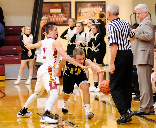 Don Knight   The Herald Bulletin<br /> Alexandria hosted Lapel in the first round of the Madison County Basketball Tournament on Tuesday.