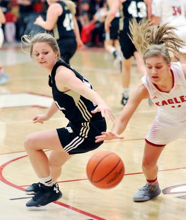 John P. Cleary   The Herald Bulletin<br /> Lapel vs Frankton in girls basketball in MC Tourney.