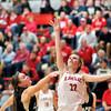 John P. Cleary | The Herald Bulletin<br /> Lapel vs Frankton in girls basketball in MC Tourney.