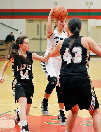 John P. Cleary |  The Herald Bulletin<br /> Lapel vs Pendleton Heights in MC Girls Basketball Tournament.
