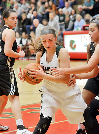 John P. Cleary |  The Herald Bulletin<br /> Lapel vs Pendleton Heights in MC Girls Basketball Tournament.