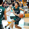 John P. Cleary |  The Herald Bulletin<br /> Pendleton Heights Eli Pancol drives the lane to the basket.