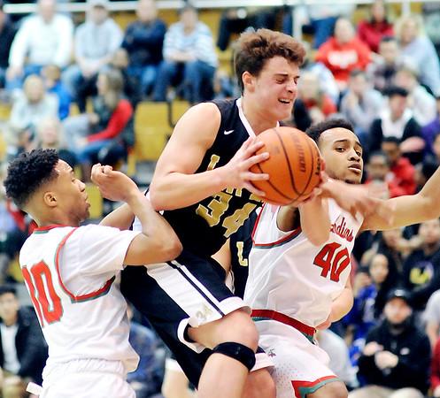 John P. Cleary    The Herald Bulletin<br /> Lapel vs AHS in boys basketball.