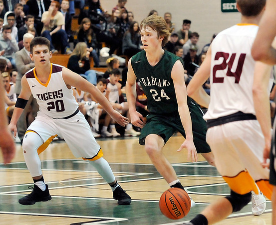 John P. Cleary |  The Herald Bulletin<br /> PHHS vs Alexandria in boys basketball.