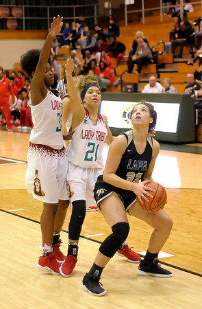 Don Knight   The Herald Bulletin<br /> Anderson faced Lapel in the Girls Madison County Tournament Championship at Pendleton Heights on Friday.