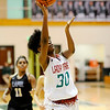 Don Knight | The Herald Bulletin<br /> Anderson's Tyra Ford shoots a layup as the Indians faced the Lapel Bulldogs in the Girls Madison County Tournament Championship at Pendleton Heights on Friday.