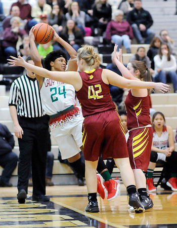 Don Knight |  The Herald Bulletin<br /> Girls Madison County Tournament championship at Lapel on Friday.