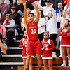 Don Knight | The Herald Bulletin<br /> Frankton's Kayden Key releases a three-point shot as the Eagles faced the Alexandria Tigers in the Madison County Championship on Saturday.