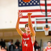 Don Knight | The Herald Bulletin<br /> Frankton's Ethan Bates goes to the free throw line in the final moments of the  the Madison County Championship game between the Eagles and Alexandria Tigers on Saturday.