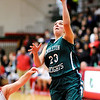 Don Knight | The Herald Bulletin<br /> Pendleton Heights' Sam Hammel drives for a layup as the Arabians played Anderson in the girls county basketball championship on Friday.
