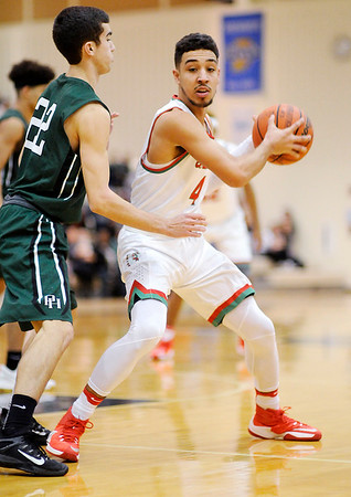 Don Knight | The Herald Bulletin<br /> Pendleton Heights won the Boys Madison County Basketball Tournament on Saturday.