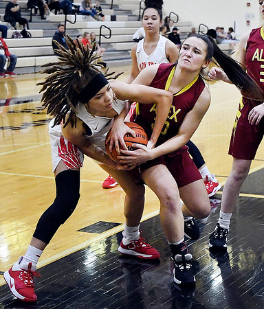 Girls semi-finals of the Madison County Basketball Tourney.<br /> Lapel vs Pendleton Hts., and Alexandria vs AHS.