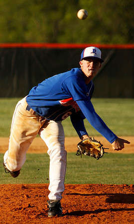Silver Creek's Lucas Barnett pitches during the home game against South Central on Thursday evening. Silver Creek won the game 11-1. Staff photo by Christopher Fryer