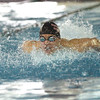 New Albany junior Luke Lete won the 100 yard butterfly Saturday at the boys swimming and diving sectional in a time of 53.47.  Staff photo by C.E. Branham