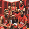 Jeffersonville High School basketball seniors Marcus Gray, Gary Kinnaird, Trice Whaley, Jonathan Ellis and Bryce Roland.  Staff photo by C.E.. Branham