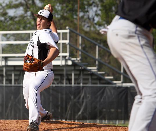 Clarksville pitcher Drew Kissel works the mound against Charlestown on Thursday. Staff photo by C.E. branham