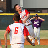Jeffersonville High School pitcher Trent Astle celebrates after the Red Devils beat Seymour 6-4 for tyhe 4A Sectional championship Monday. Staff photo by C.E. Branham