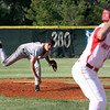 Brandon Johnson pitched a full eight innings for New Albany in a 1-0 loss to Jeffersonville in the semi-finals of the Hoosier Hills Conference Tournament. Staff photo by C.E. Branham