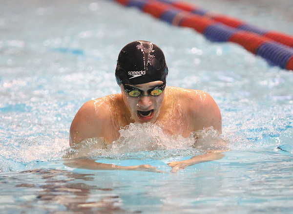 Floyd Central junior Oscar Anderson finished eighth in the 200 yard individual medley Saturday at the IHSAA Boys swimming and Diving Championship.  Staff photo by C.E. Branham