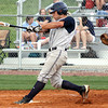 Providence batter Justin Starr rips a three-run homer against Silver Creek on Tuesday. Staff photo by C.E. Branham