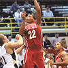 Jeffersonville senior Jordan Ellis puts up a shot in the lane on Corydon Central Tuesday night.  Staff photo by C.E. Branham