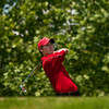 Jeffersonville High School sophomore Dillon Willis tees off on the the third hole during the Hoosier Hills Conference golf meet at Covered Bridge Golf Club on Saturday afternoon. Staff photo by Christopher Fryer