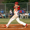 Jeffersonville sophomore Josh Burke collects a single in the 4A Sectional championship against Seymour. Staff photo by C.E. Branham