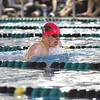 Floyd Central junior Oscar Anderson won the 200 yard IM Saturday at the boys swimming and diving sectional in a time of 1:59.15.  Staff photo by C.E. Branham